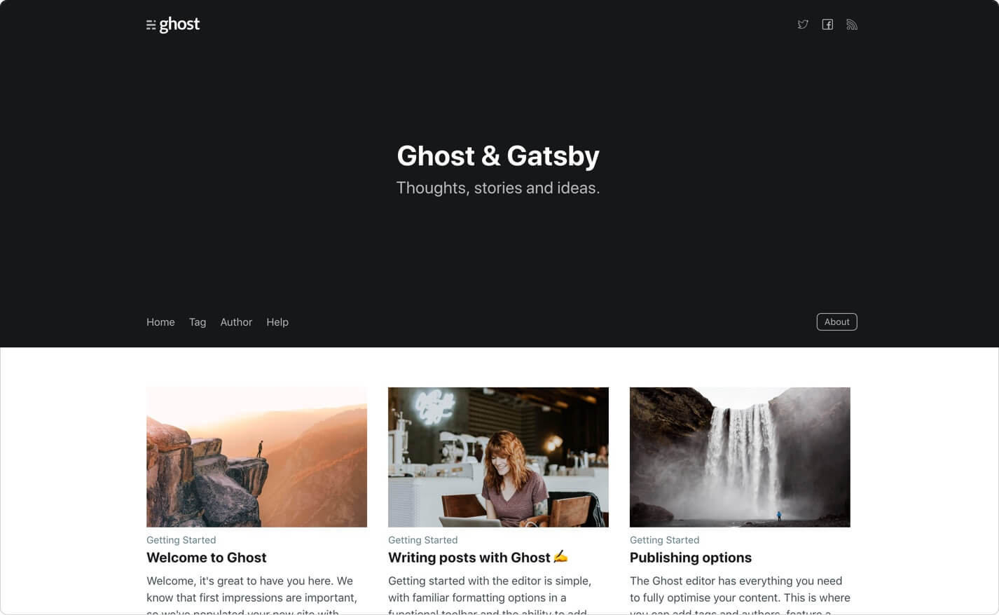 A starter template to build lightning fast websites with Ghost & Gatsby