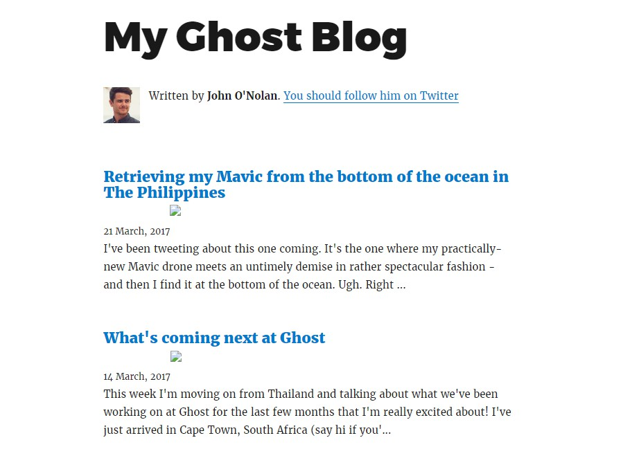 Gatsby starter for creating a Ghost powered blog