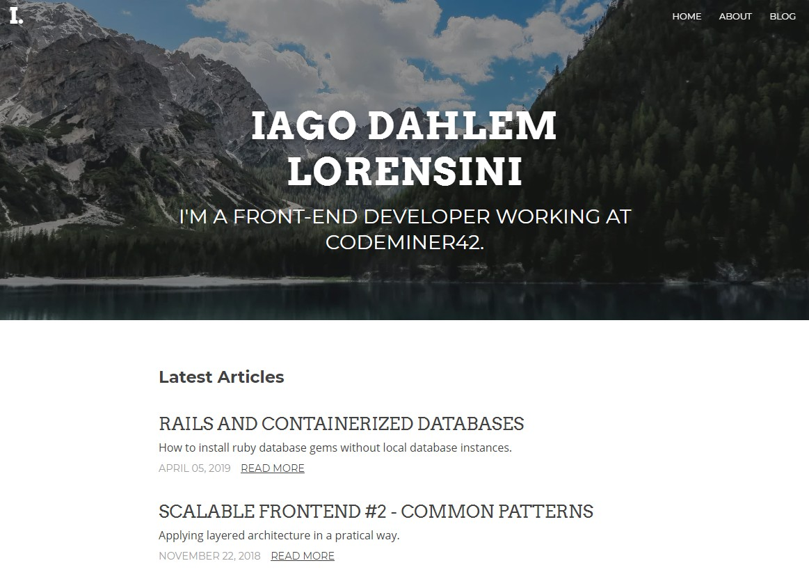iagodahlem personal website with Gatsby