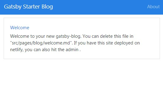 Bootstrap and netlify CMS starter for Gatsby
