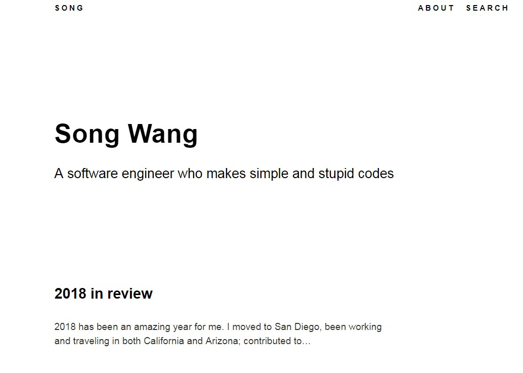 Source code for the website about Song Wang