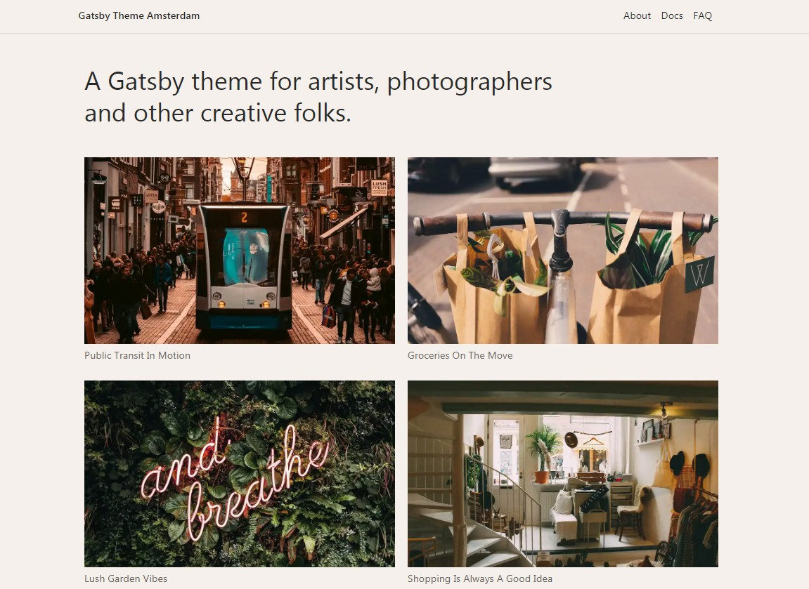 A Gatsby theme for photographers and other creative folks