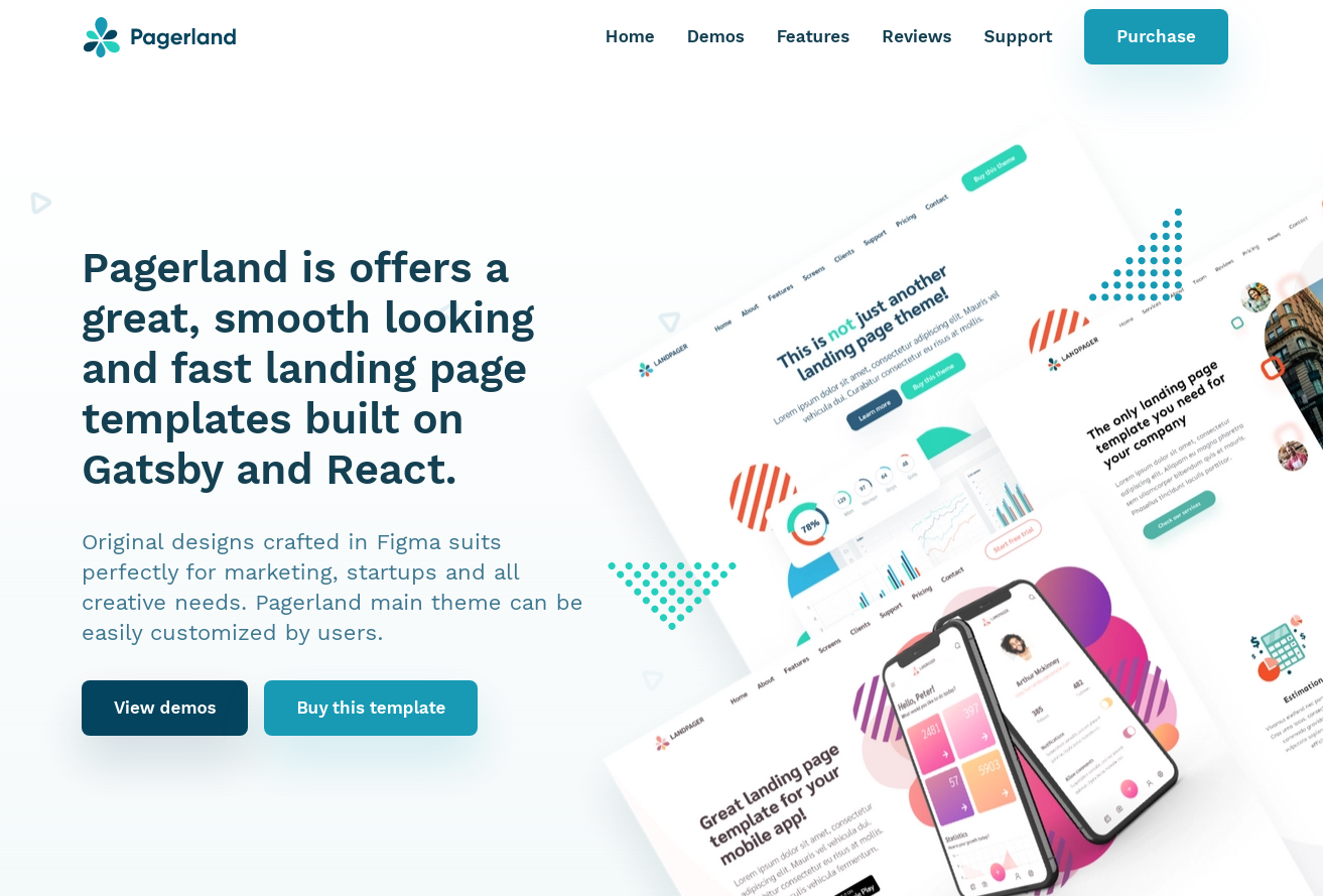 Pagerland - A smooth looking and fast landing page templates
